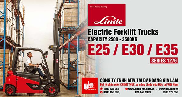 Xe nâng điện forklift LINDE E25 – E35 (Series 1276)