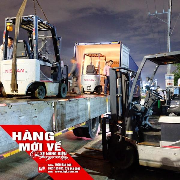 Hàng mới về 9.2019: 2 container xe nâng điện 1 tấn - 3 tấn