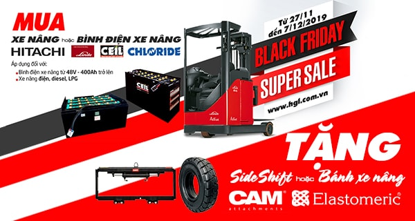 Black Friday 2019-Tặng Sideshift CAM khi mua xe nâng, bình điện xe nâng