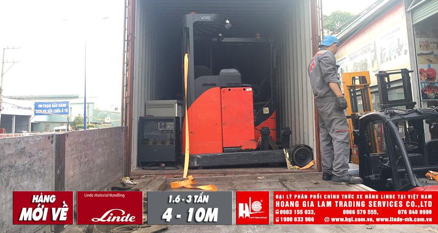 Hàng mới về 11.2019: 5 container xe nâng Linde (Đức), tải trọng nâng 1.6 tấn - 3 tấn