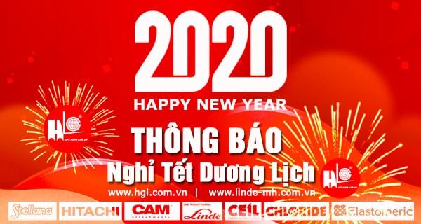 CTy Hoàng Gia Lâm thông báo nghỉ Tết Dương Lịch 2020