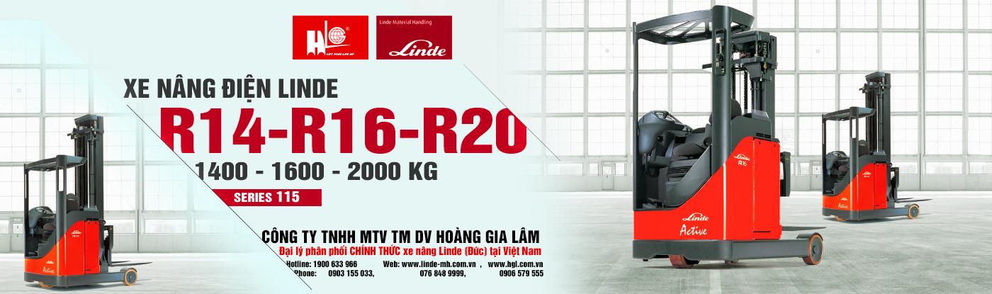 Xe nâng reach truck Linde R14 – R20 (Series 115)