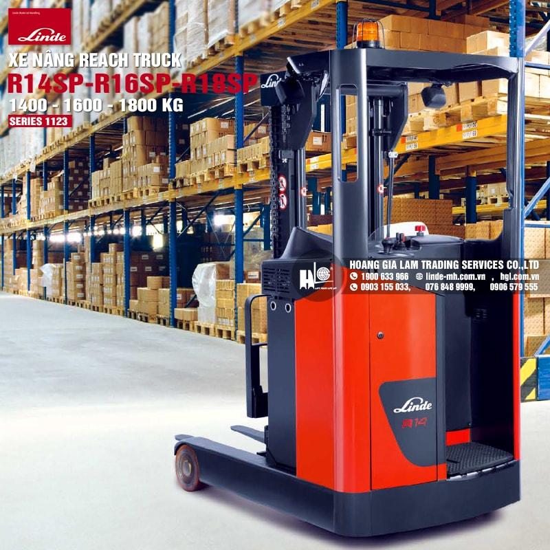 Xe nâng reach truck Linde R14SP – R18SP (Series 1123)
