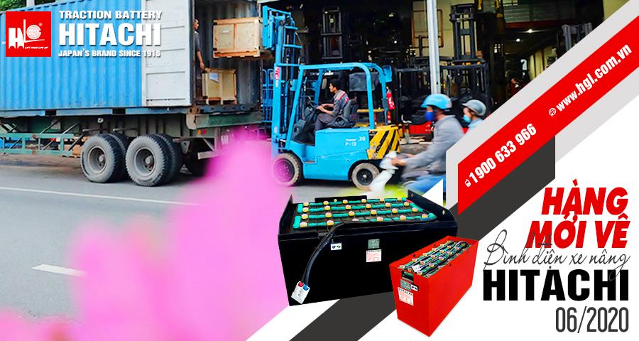 Hàng mới về 6.2020: Container bình điện xe nâng HITACHI lại về Việt Nam