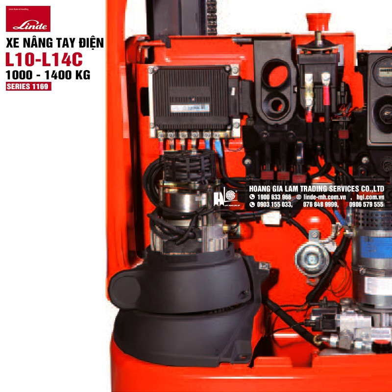 Xe nâng tay Linde L10 - L14C (Series 1169)