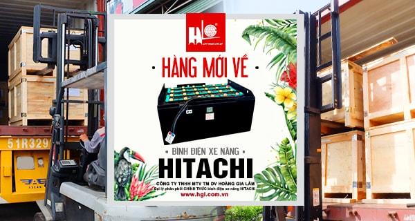 Hàng mới về 7.2020: Container bình điện xe nâng HITACHI (Thái Lan)