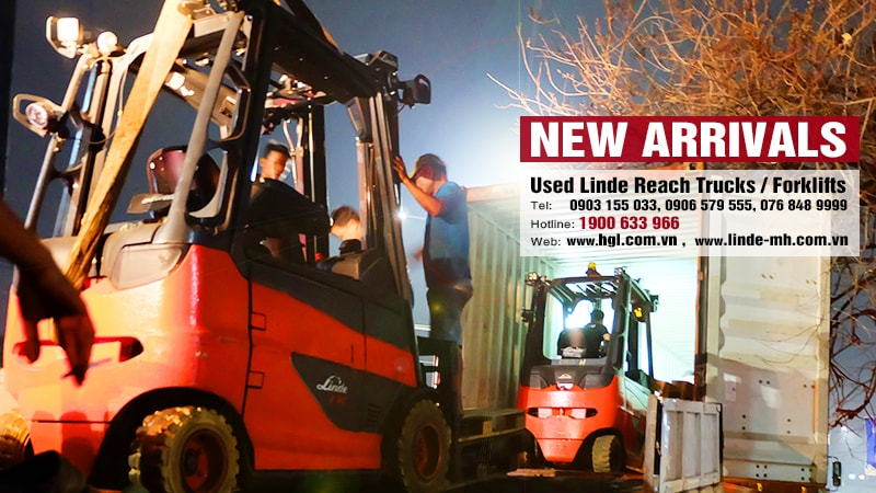 Hàng mới về 9.2020: Container xe nâng Linde (Đức) đã qua sử dụng1.6 tấn-3 tấn
