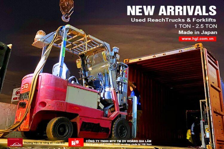 Hàng mới về 11.2020: Container xe nâng Nhật 1 tấn - 2.5 tấn