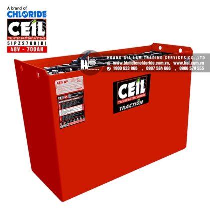 Bình điện xe nâng CEIL (Chloride) 48V - 700Ah 5IPZS700 (B)