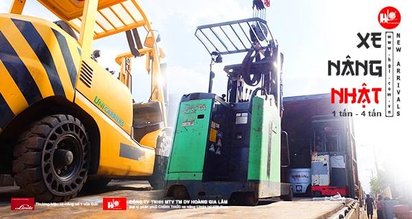 Hàng mới về 1.2021: Container xe nâng Nhật 1 tấn – 4 tấn