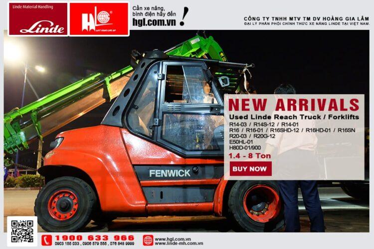 Hàng mới về 3.2021: Container xe nâng Linde 1.4 tấn - 8 tấn