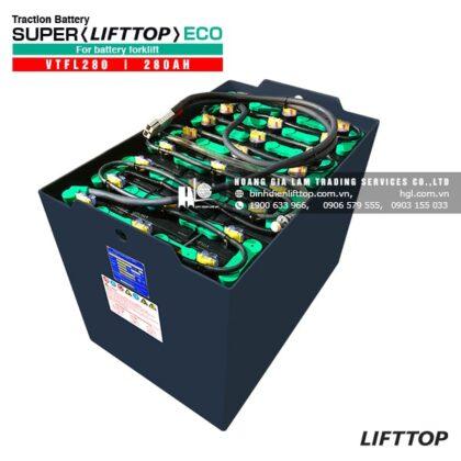Bình điện xe nâng LIFTTOP 48V-280Ah VTFL280 (Châm nước cất trung tâm)