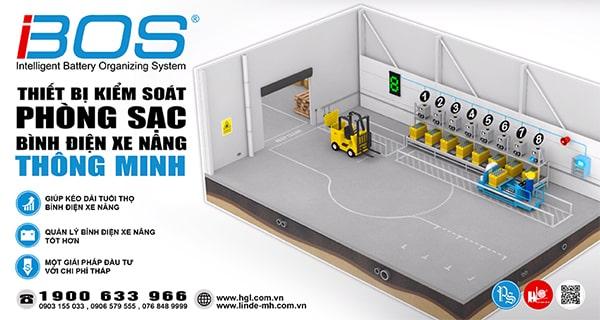 IBOS® - Thiết bị kiểm soát phòng sạc bình điện xe nâng thông minh