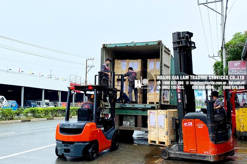 Hàng mới về 6.2021: Container bình điện xe nâng CEIL (CHLORIDE)