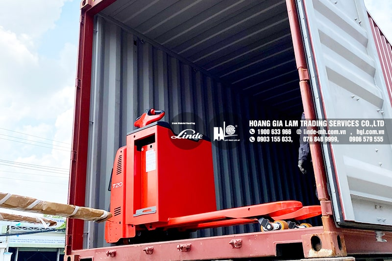 Hàng mới về 6.2021: Container xe nâng Linde R14S, R16SHD, E25SL, T20APHP & T20SP mới 100%