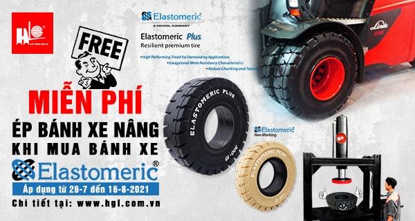 Miễn phí ép bánh xe nâng khi mua bánh xe ELASTOMERIC đến hết ngày 16/8/2021