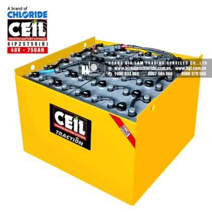 Bình điện xe nâng CEIL (Chloride) 48V - 750Ah 6IPZS750 (B)