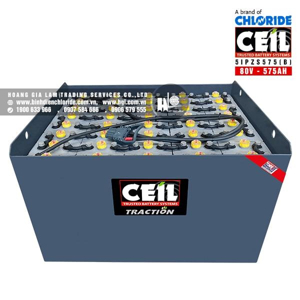 Bình điện xe nâng CEIL (Chloride) 80V - 575Ah 5IPZS575 (B)