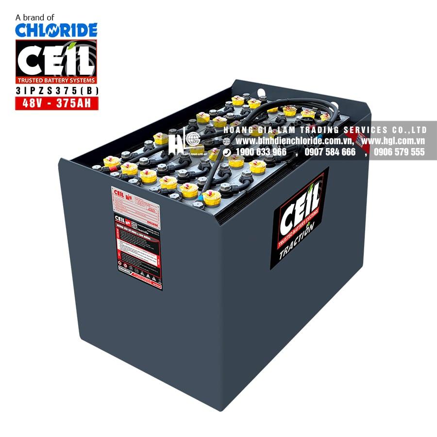 Bình điện xe nâng CEIL (Chloride) 48V - 375Ah 3IPZS375 (B)