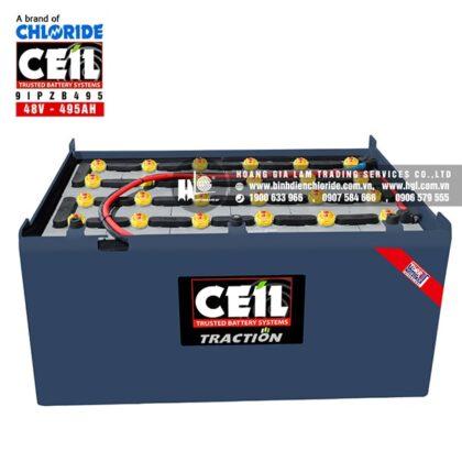 Bình điện xe nâng CEIL (Chloride) 48V - 495Ah 9IPZB495