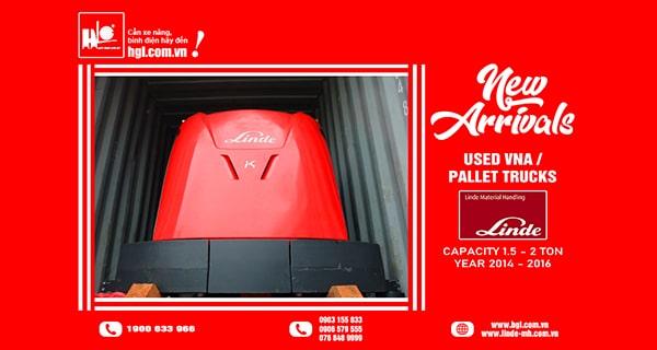Hàng mới về 10.2021: Container xe nâng VNA, xe nâng tay điện Linde (Đức)